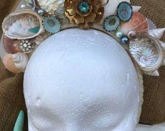 Wedding Tiara for Beach Wedding, Mermaid Crown