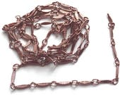 Vintage Chain, Over 3 Feet, Jewelry Chain, Flat Bar and Link Chain, Jewelry Making, Handmade Chain, Rose Gold, B'sue Boutiques, Item03553