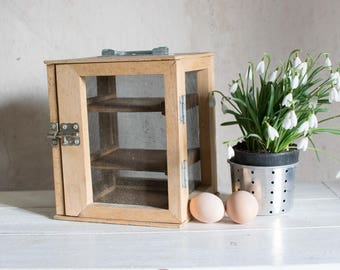 Vintage French Cheese Larder //  Wood Pantry Storage // Kitchen Wooden Decor // Food Storage