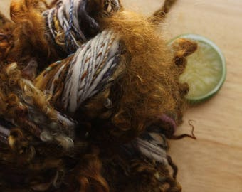Rapunzel - Handspun Yarn Merino Wool Merino Long Curls DK Weight