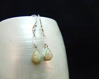 Ethiopian Opal Sterling Silver Earrings