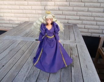 Barbie dress , cloak and crown OOAK, Barbie clothes, Barbie Fashion, Barbie princess dress