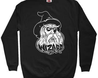 Wizard Sweatshirt - Men S M L XL 2x 3x - Crewneck, Wizard Shirt, Magic, Fantasy, Sci Fi, Horror - 2 Colors