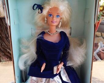Avon Winter Velvet Barbie  ~  1995 Avon Exclusive Special Edition Winter Velvet First in a Series Barbie  ~  1995 Winter Velvet Barbie Doll