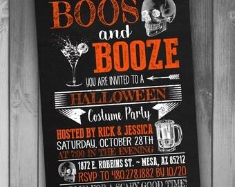 Halloween Party Invitation Halloween Costume Party Invitation and Booze and Boos Halloween Party Invite Costume Party Invite Booze and Boos