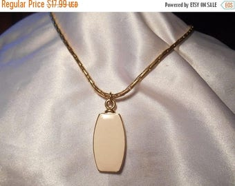 75% OFF CLEARANCE Liz Claiborne Cream Enamel Pendant Necklace