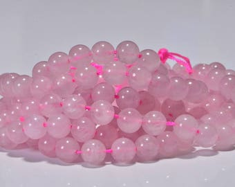 Rose Quartz Beads 8.3mm Natural Gemstone Beads Jewelry Making Supplies