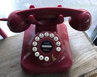 Vintage Look Red Phone