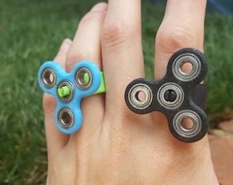 3D Printed Spinner Ring EDC Fidget Toy Hand Spinner Design