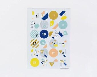 advent calender sticker geo shapes