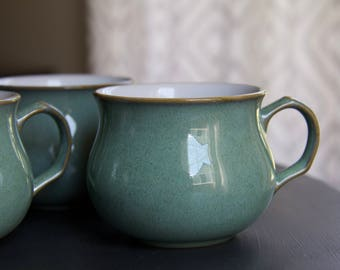 Set of 4 Denby England Regency Green Teacup