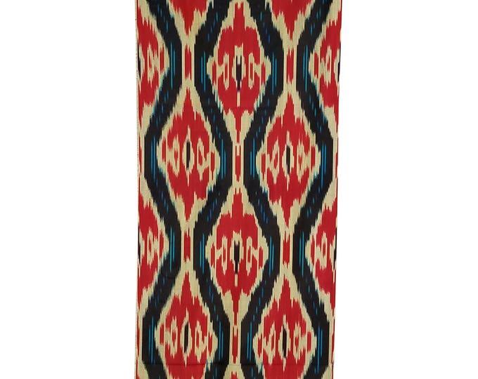 Sale! Ikat Fabric, Ikat Fabric by the yard, Hand Woven Fabric, Cf102