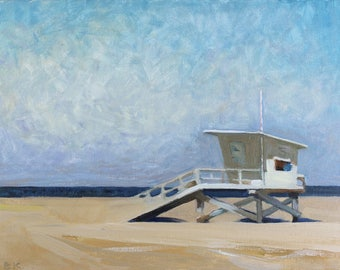 "Beach Decor ""Sunny day"" Oil Painting by B. Kravchenko for SEASTYLE  Wall Art FREE SHIPPING"