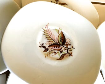 """Vintage 50's """"SQUARE SAUCER PLATES"""" by Taylor Smith Taylor -  Service for 6 from the Conservations Collection"""
