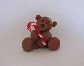 Whimsical Christmas Bear Figurine