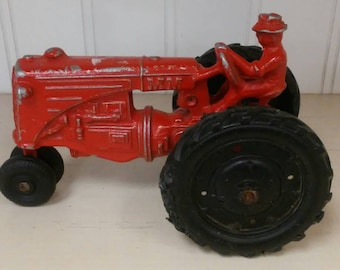 Vintage Red Tractor MM Minneapolis Moline Diecast Toy USA