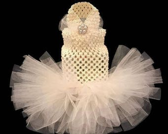 Cat Wedding Dress Ivory or White Cat Tutu-Cat Wedding Tutu-White Tutu-White Cat Dress-Ivory Cat Dress-Wedding Dress for Cats-Cat Clothes