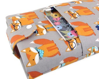 Fox Book Sleeve - Front Pocket, Two Sizes: Paperback & Hardback - Makes A Great Book Cover For Yourself Or Book Lover Gift!