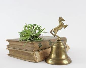 Vintage Brass Horse Bell - Patient Sick Call Bell