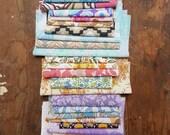 Vintage Fabric Remnants, Fabric Scraps, Vintage Floral Fabric Pieces
