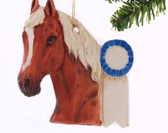 Red Roan Show Horse Christmas Ornament Personalized Free your