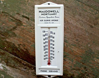 vintage mortuary thermometer salesman sample, creepy, collectible thermometers, macabre, curiosity cabinet