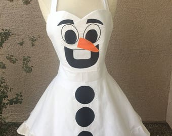 Olaf apron dress