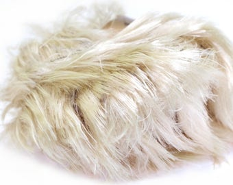 SALE 30% OFF 50g/1.76oz Koala Faux Fur Bulky yarn by Lanas Stop #705 (Light Beige)