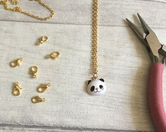 Panda necklace, cute panda charm jewellery, charm necklace, gift for teen, coworker gift, handmade in uk, etsy uk, panda jewelry, zoo animal