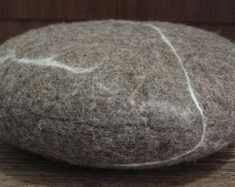 Felt pouf , Felt cushion,Felt ottoman, felt stone, free delivery, handmade felt Nepal, felt stole