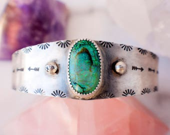 Sterling opal cuff. Green monarch opal cuff in sterling silver. Artemis OOAK Opal Cuff in Sterling Silver. Gift for her. Ready to ship.