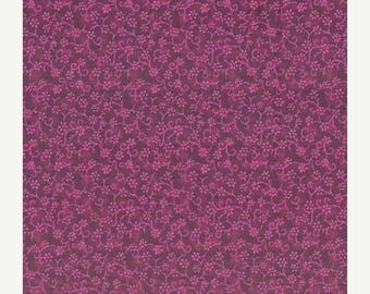 ON SALE Flowers, Red Floral Fabric, Florina by Blank Quilting, Purple Floral Fabric, Amethyst Fabric, Floral Fabric, 02045