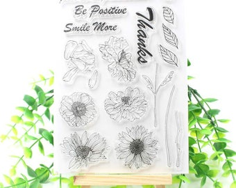 Sunflowers Clear Stamp Set