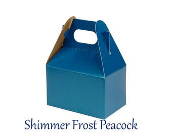 Boxes ,  Blue  Take Out Boxes & Containers , Blue Gable Boxes , Barn Boxes , Mini Gable Boxes , Favors, gifts,