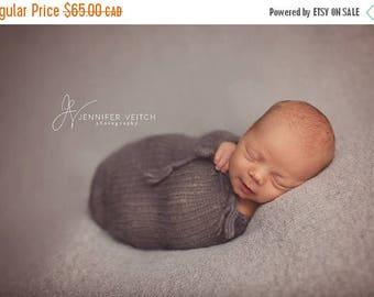 Happy Birthday sale newborn knit pod, photo props, POD ONLY