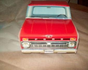 Retro  Vintage 66  Red Ford Pickup Food Box,Popcorn Box Kids Brithday Party Set of 5