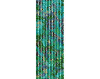 Abstract 8 Peyote Bead Pattern, Bracelet Cuff Pattern, Bookmark, Seed Beading Pattern Miyuki Delica Size 11 Beads - PDF Instant Download