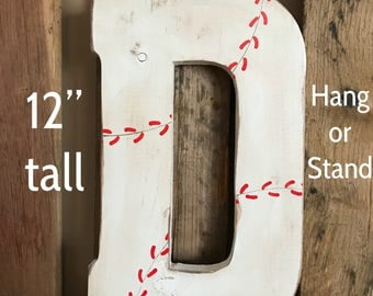Baseball Wall Decor Letter Personalized Sign Baby Shower