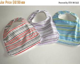 ON SALE Baby bibs, 3 Baby bibs,  Unisex baby gift, Terry cloth backed bibs, set of 3 gender neutral baby bibs, unisex baby bibs, Baby Shower