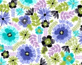 Snuggle Flannel Fabric - Painted Floral - Sold by the Yard