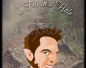 """Teen Wolf Liam Dunbar """"I Fell In a Hole..."""" Customizable Pendants, Key Chains, and Key Rings"""