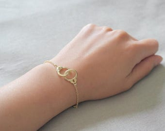 ON SALE Delicate simple everyday handcuff gold bracelet