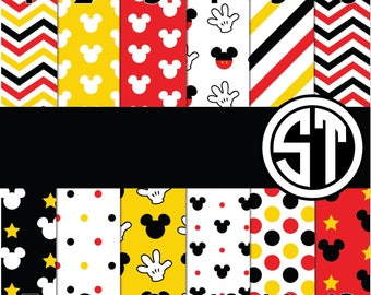 MIckey Mouse Inspired printed indoor, outdoor, glitter & metallic decal VINYL or heat transfer vinyl HTV or applique FABRIC