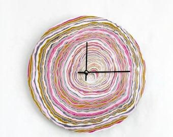 Boho Wall Clock, Trending Home Decor, Pastel Pink Wall Art, Home and Living, Clocks, Ready To Ship