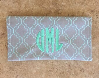 Personalized Fabric Checkbook Cover