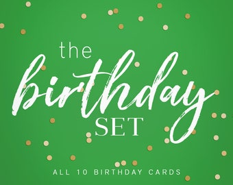 Set of 10 Birthday Cards