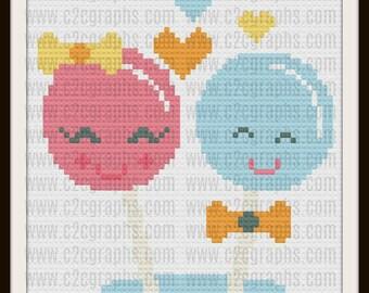 Lollipop Kids Afghan, C2C Graph, Written Word Chart, Crochet Pattern