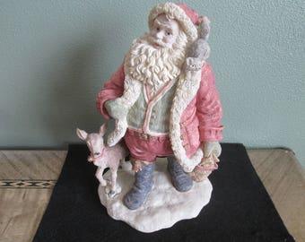 Vintage Santa Claus with Animals