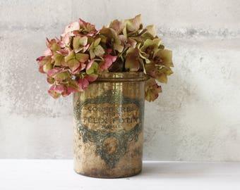 French Felix Potin Confiture Pot.....Shabby chic....Nordic Living