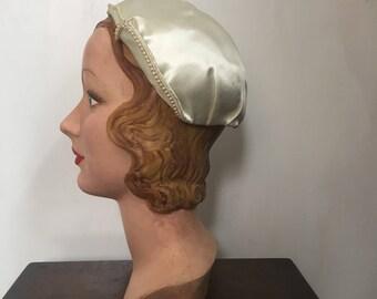 1930s juliette cap / wedding hat